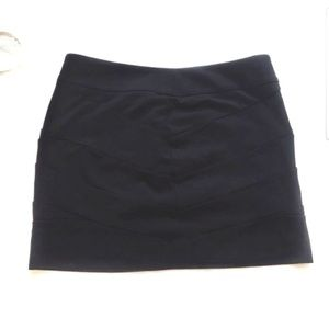Express Textured Mini Skirt Black Size 0
